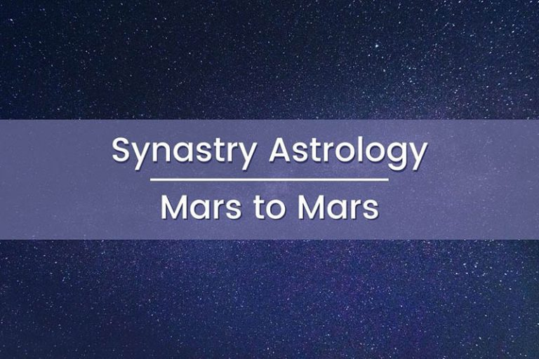 Synastry Astrology Mars to Mars