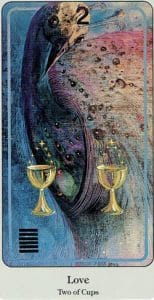 2 of Cups Haindl Tarot