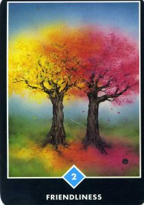 2 of Water Friendliness Osho Zen Tarot