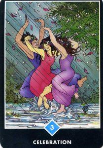 3 of Water Celebration Osho Zen Tarot