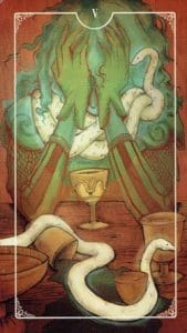 5 of Cups Ostara Tarot