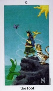 The Fool card Sun and Moon Tarot