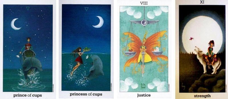 The Sun and Moon Tarot cards