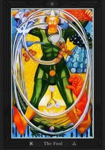 The Fool card Thoth Tarot