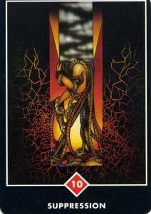 10 of Fire Suppression Osho Zen Tarot