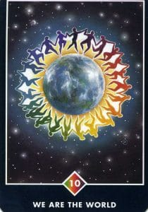 10 of Rainbow We Are The World Osho Zen Tarot