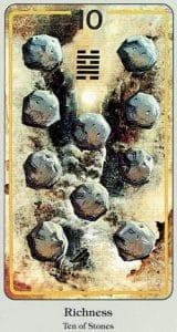 10 of Stones Haindl Tarot