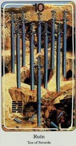 10 of Swords Haindl Tarot
