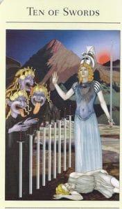 10 of Swords Mythic Tarot