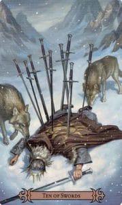 10 of Swords Spellcaster Tarot
