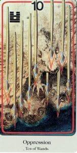 10 of Wands Haindl Tarot