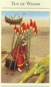 10 of Wands Mythic Tarot