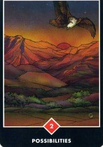 2 of Fire Possibilities Osho Zen Tarot