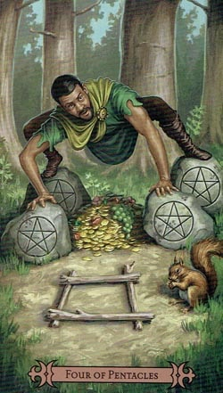 4 of Pentacles Spellcaster Tarot