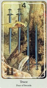 4 of Swords Haindl Tarot
