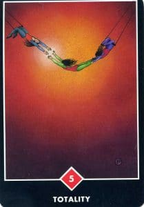 5 of Fire Totality Osho Zen Tarot