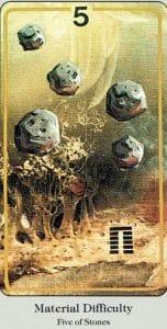 5 of Stones Haindl Tarot