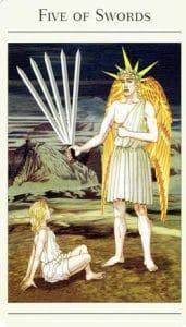 5 of Swords Mythic Tarot