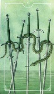 5 of Swords Ostara Tarot