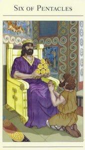 6 of Pentacles Mythic Tarot