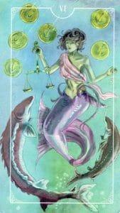 6 of Pentacles Ostara Tarot