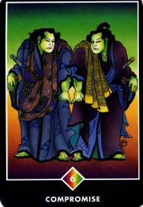 6 of Rainbow Compromise Osho Zen Tarot