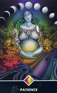 7 of Rainbow Patience Osho Zen Tarot