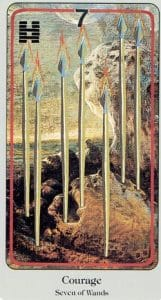 7 of Wands Haindl Tarot