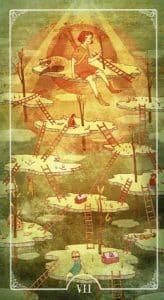 7 of Wands Ostara Tarot