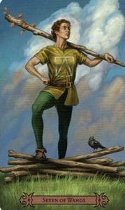 7 of Wands Spellcaster Tarot
