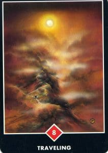 8 of Fire Traveling Osho Zen Tarot