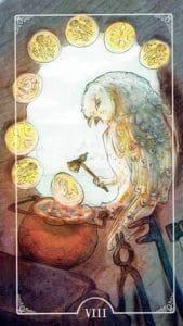 8 of Pentacles Ostara Tarot