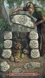 8 of Pentacles Spellcaster Tarot