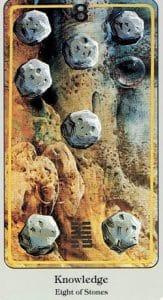 8 of Stones Haindl Tarot