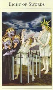 8 of Swords Mythic Tarot