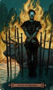 8 of Swords Spellcaster Tarot