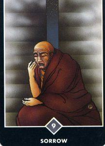 9 of Air Sorrow Osho Zen Tarot