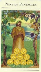 9 of Pentacles Mythic Tarot