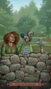9 of Pentacles Spellcaster Tarot