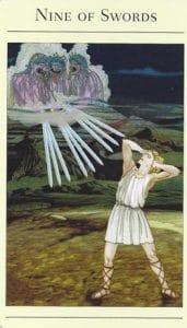 9 of Swords Mythic Tarot
