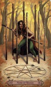 9 of Wands Spellcaster Tarot