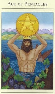 Ace of Pentacles Mythic Tarot