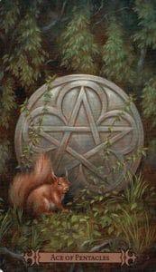Ace of Pentacles Spellcaster Tarot