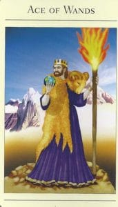 Ace of Wands Mythic Tarot