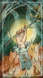 Ace of Wands Ostara Tarot