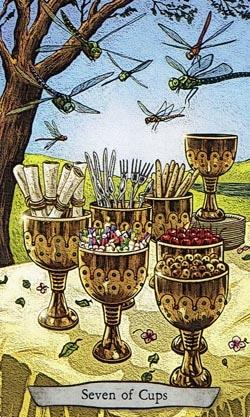Animal Totem Tarot 7 of Cups Dragonfly card
