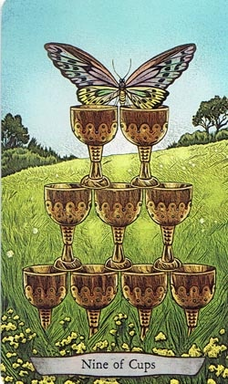 Animal Totem Tarot 9 of Cups Butterfly card