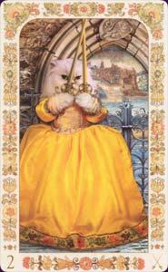 Baroque bohemian cats - 2 of Swords