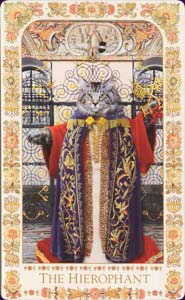 Baroque bohemian cats - The Hierophant