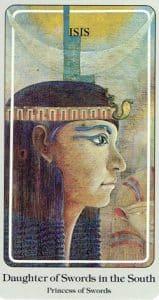 Daughter of Swords Haindl Tarot